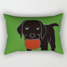 Black Lab Puppy Rectangular Pillow
