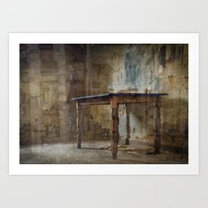 Your Table is Ready Art Print