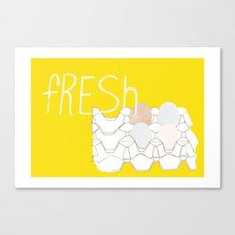 Fresh Eggs Canvas Print