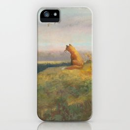 Red Fox Looks Out Over the Valley iPhone Case
