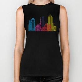 Charlotte skyline pop Biker Tank