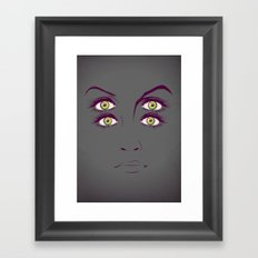 K. Framed Art Print