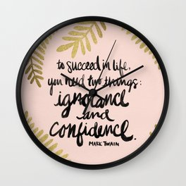 Ignorance & Confidence #2 Wall Clock