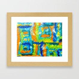Retro memories Framed Art Print