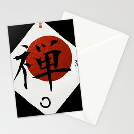 Kanji Zen with Enso Circle Stationery Cards