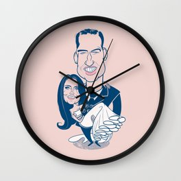Caricatures of Prince William and Kate Middleton Wall Clock