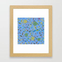 Ocean Currents Framed Art Print