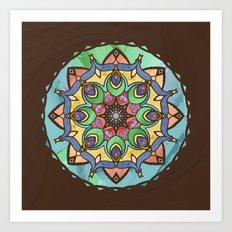 Silk and Sand Mandala Art Print