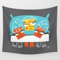 sassy Wall Tapestries featuring Sassy and spicy bed! by Lady Love