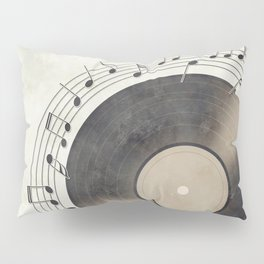 Vinyl Music Collection Pillow Sham