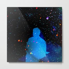 Blue Man From Space Metal Print