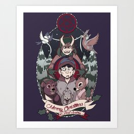 Merry Critter Christmas (South Park) Art Print