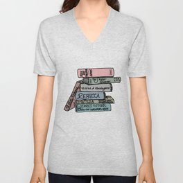 Favorite Books - In Color Unisex V-Neck