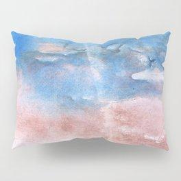 Corn flower blue vague watercolor Pillow Sham