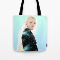 luna lovegood Tote Bags featuring Luna Lovegood  by kelsey cooke art