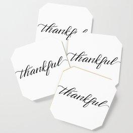 Thankful Calligraphy Coaster