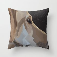 Latte Dog Throw Pillow