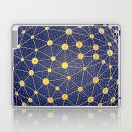 Cryptocurrency mining network Laptop & iPad Skin