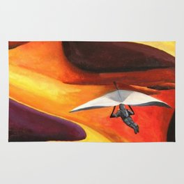 Hang-Glider Oil Painting Rug