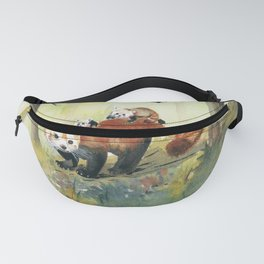 Red Panda Family Fanny Pack