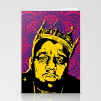 notorious big Stationery Cards featuring The Notorious BIG by 50mlDesigns
