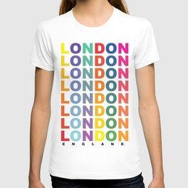 Retro London England poster T-shirt