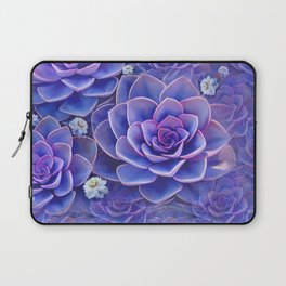 """Bouquet of pastel violet exotic succulents"" Laptop Sleeve"
