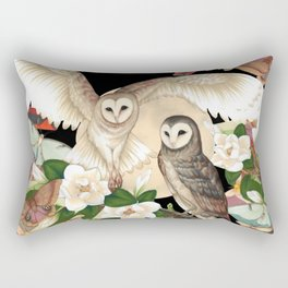 Owls + Moths Rectangular Pillow