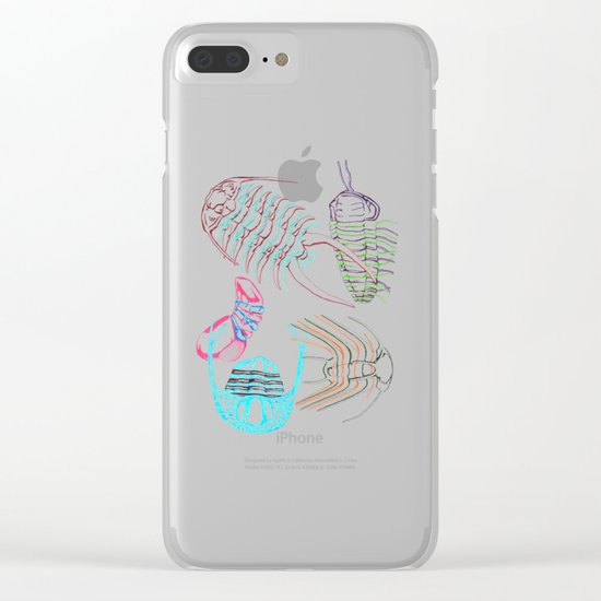 Ordovician Era Trilobites Clear iPhone Case