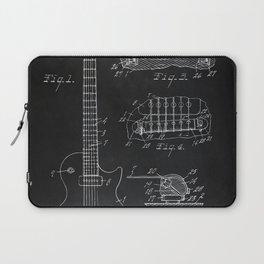 Gibson Guitar Patent Les Paul Vintage Guitar Diagram Laptop Sleeve