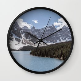 Landscape Photography Lake Moraine Mountain ridge Wall Clock