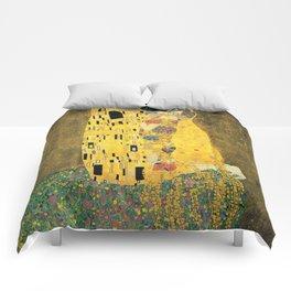 THE KISS - GUSTAV KLIMT Comforters