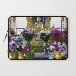 Buddha Shrine a Kuthodaw Pagoda, Myanmar Laptop Sleeve