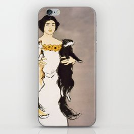 Lady with cats iPhone Skin