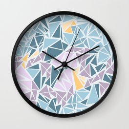 Foggy day in northern Italy Wall Clock