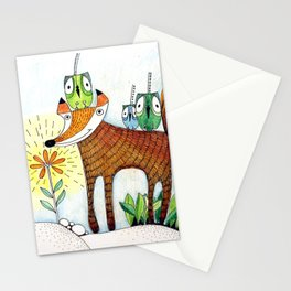 fox and birds Stationery Cards