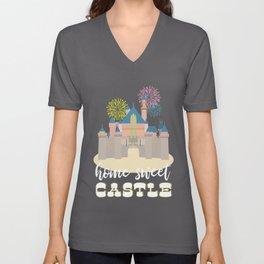 Disneyland Castle, Home Sweet Castle Unisex V-Neck