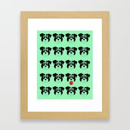 Dogs Green Framed Art Print