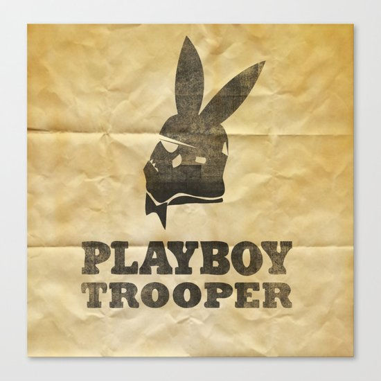 playboy trooper  Canvas Print