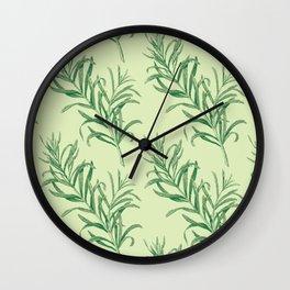 rosemary pattern 2 Wall Clock