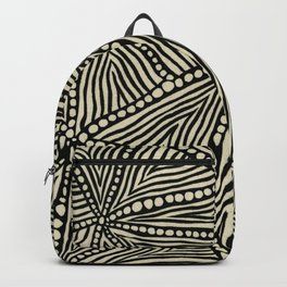 Black and Ivory Triangles Backpack
