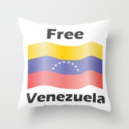 Free Venezuela Throw Pillow