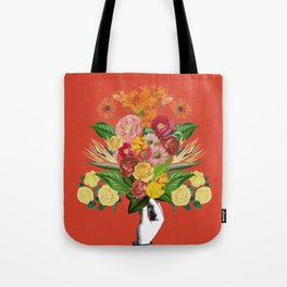 Botanical Red Tote Bag