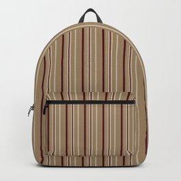 stripes on a beige background Backpack