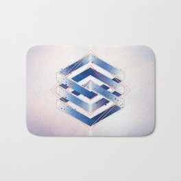Floating Geometry :: Winter Hexagon Bath Mat