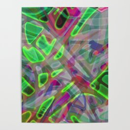Colorful Abstract Stained Glass G300 Poster