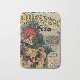 Vintage Auvergne French travel advertising Bath Mat