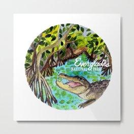 Everglades National Park Watercolor Metal Print