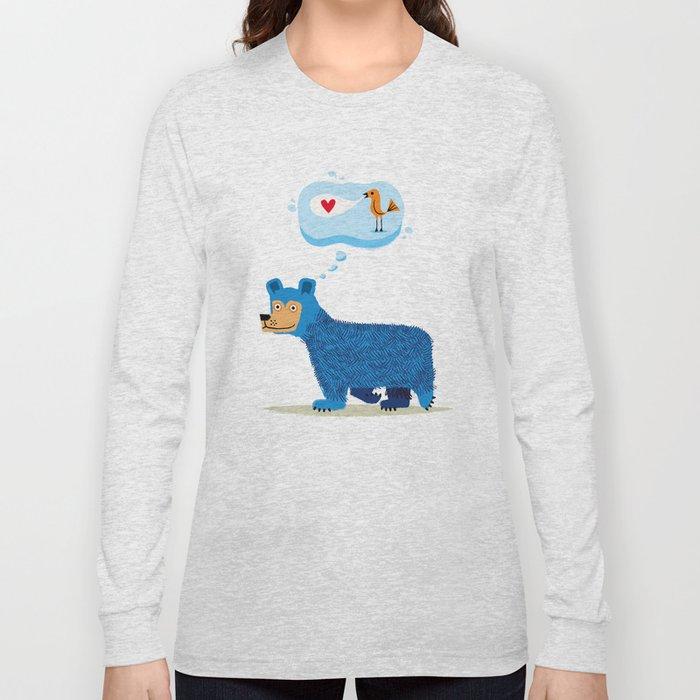 Bear Thinks Of Bird Long Sleeve T-shirt