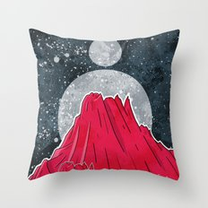 The Three Moons Over The Mountains Throw Pillow